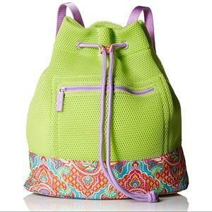 Vera Bradley Mesh Citrine Paisley Backpack